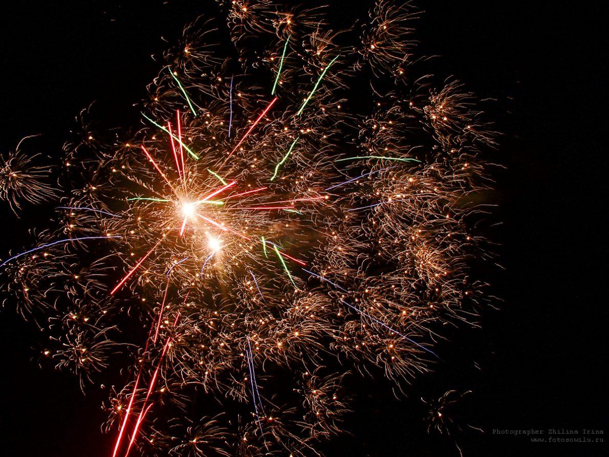 фейерверк, новый год