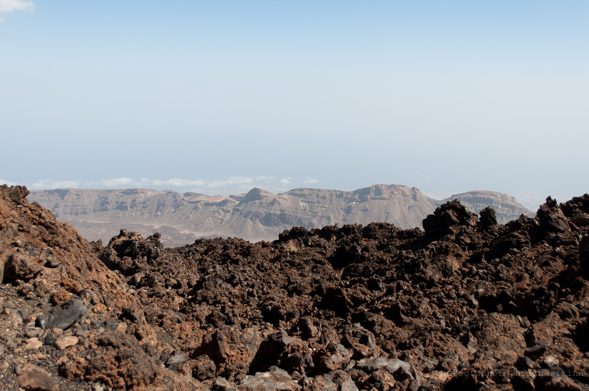 путь к смотровой La Fortaleza вулкана Тейде