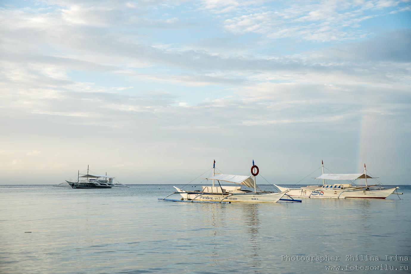 Алона Бич, Панглао, солнце, Alona beach