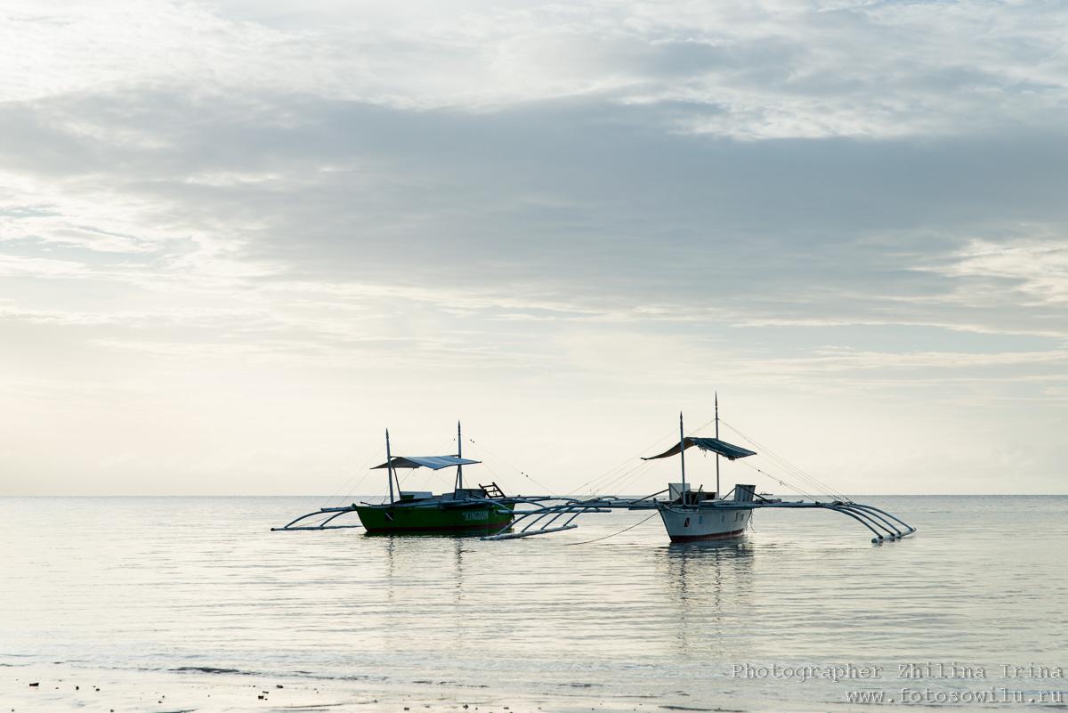 Алона Бич, Панглао, утро, Alona beach
