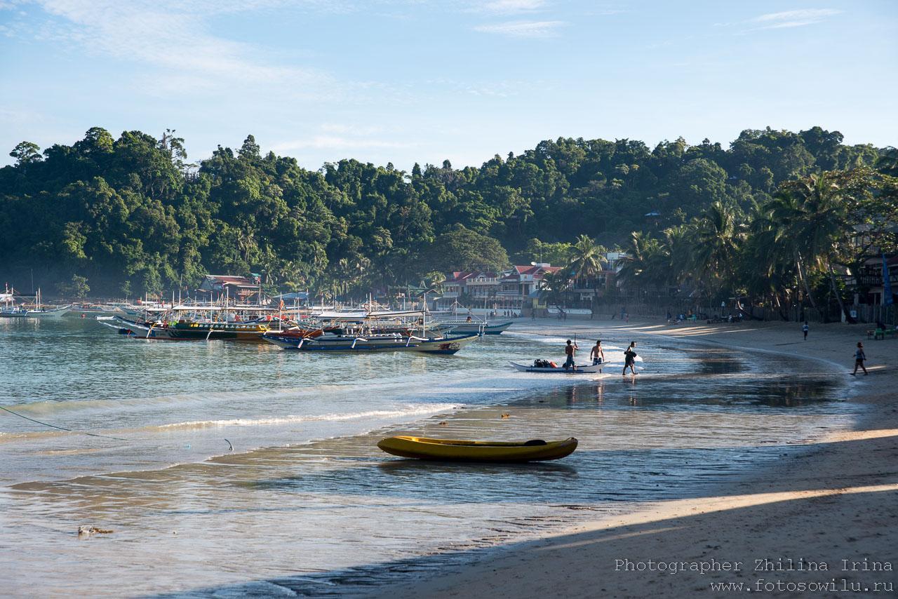 Эль Нидо утро пляж
