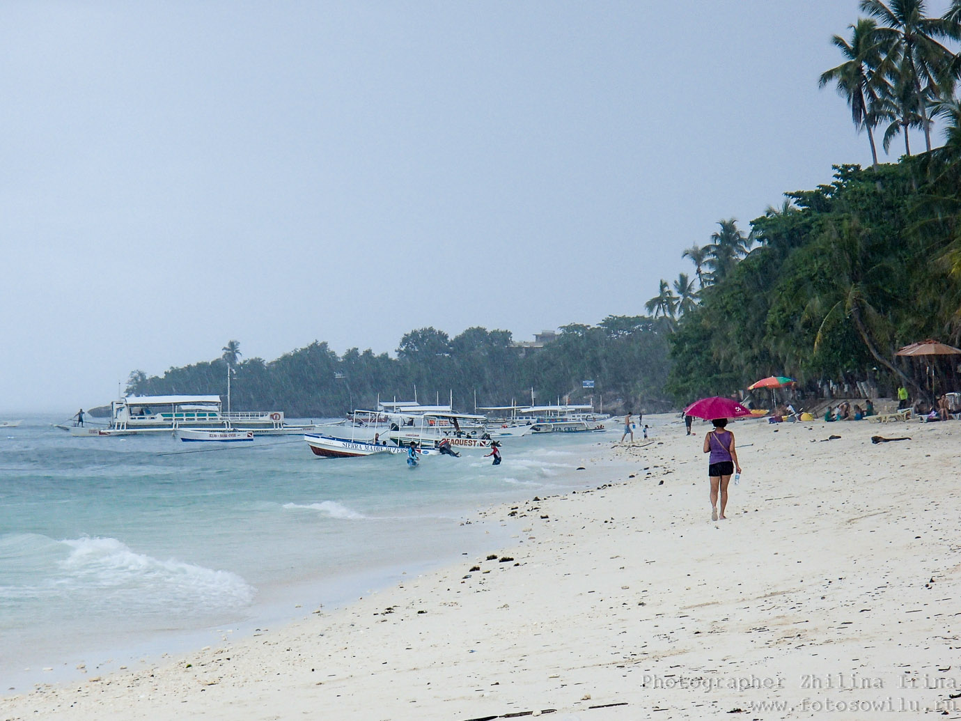 Алона Бич, Панглао, дождь, Alona beach